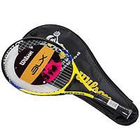 Ракетка для большого тенниса Wilson желтая, длина 23 дюйма