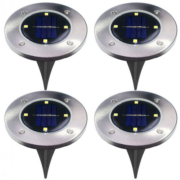 Уличный ночной фонарь LED светильник для сада на солнечной батарее DISKLIGHTS 435