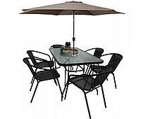 Комплект садовой мебели Kontrast Garden Boston Black-6B