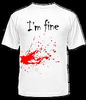 """Футболка """"I'm fine"""", фото 1"""