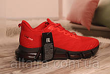 Мужские кроссовки сетка, красного цвета на силиконовой подошве SUPO 41-45