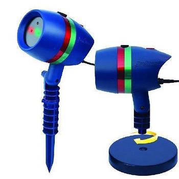 Уличный лазерный звездный проектор star shower laser motion для дома и улицы