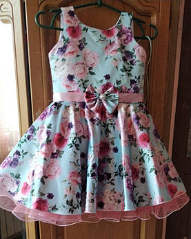 Ошатне плаття в квіточку Ретро для дівчинки 4-6 років