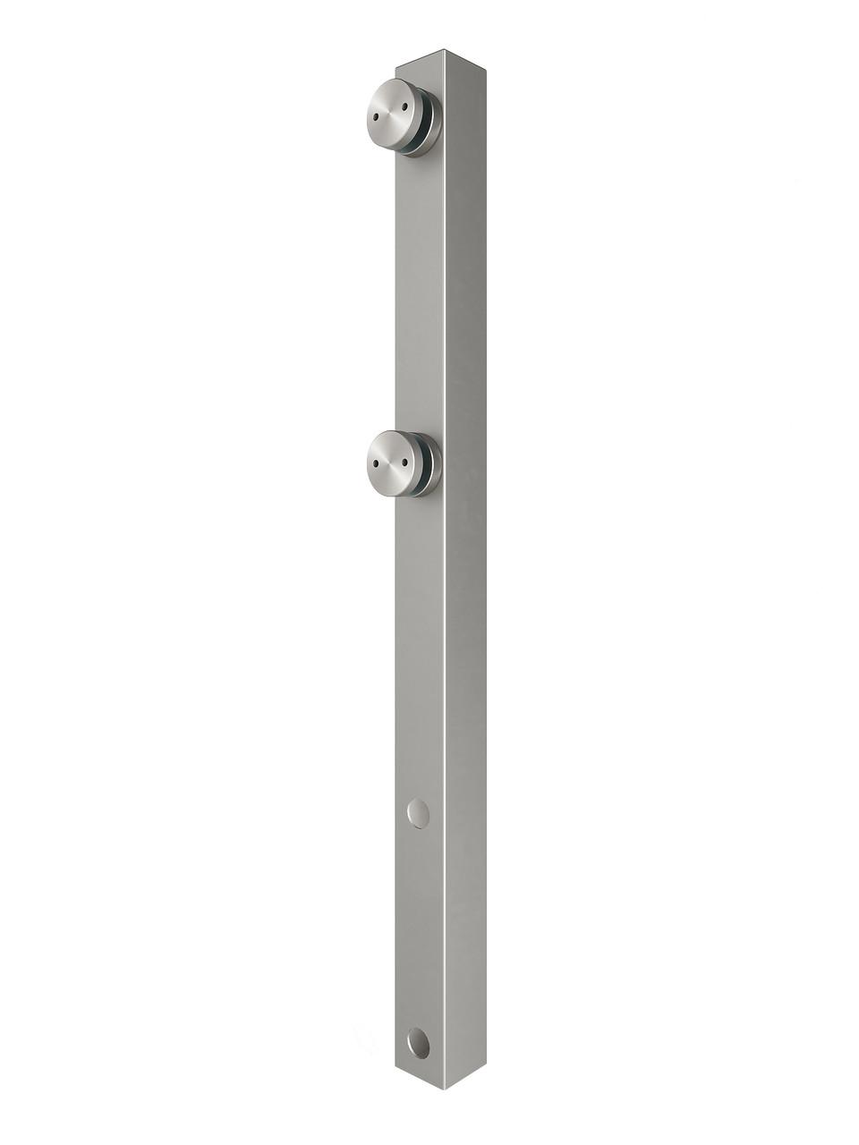 ODF-02-11-01-H600 Стойка для стеклянных ограждений и перил из стекла с боковым креплением и коннекторами, сати