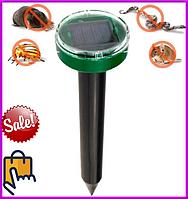 Отпугиватель грызунов кротов насекомых аккумуляторный на солнечной батареи ультразвуковой отпугиватели кротов