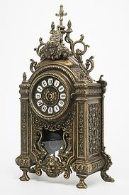 Часы настольные каминные с маятником латунь Италия Stilars 131378