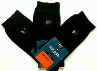 Высокие мужские носки черного цвета с принтом