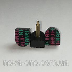 """Набойки на металлическом штыре """"Kaneiji"""" черные, 13mm x 11mm высота 20 мм"""