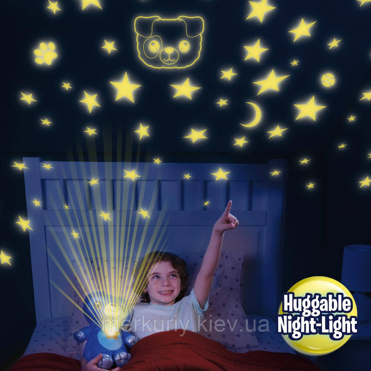 Мягкая игрушка ночник-проектор Star Bellу Dream Lites Puppy