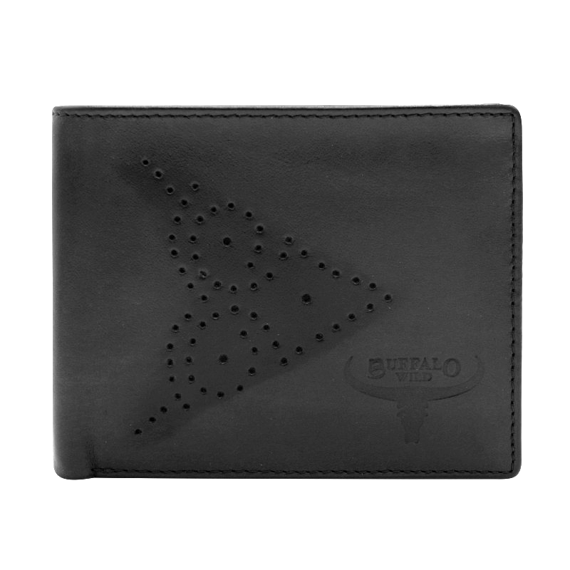 Мужское кожаное портмоне без застежки Always Wild N7-02-GG черное