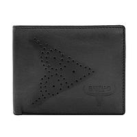 Мужское кожаное портмоне без застежки Always Wild N7-02-GG черное, фото 1