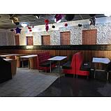 Диван для кафе и баров двухместный ЛЮДВИГ. Мягкая мебель для ресторанов и кафе, фото 3