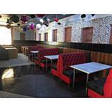 Диван для кафе и баров двухместный ЛЮДВИГ. Мягкая мебель для ресторанов и кафе, фото 4