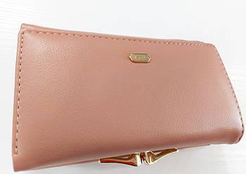 Жіночий гаманець Balisa C7601 пудра Невеликий жіночий гаманець з штучної шкіри закривається на магніт