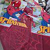 Бязь Gold с принтом Spider-man (Спайдермен) на красном фоне, ширина 220 см
