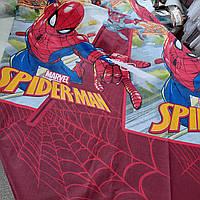 Бязь Gold с принтом Spider-man (Спайдермен) на красном фоне, ширина 220 см, фото 1