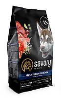 Сухой корм Savory Junior Large rich in Fresh Turkey&Chicken 12кг