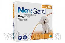 Таблетка от блох и клещей для собак NexGard Нексгард весом 2-4 кг