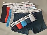 Трусы мужские боксеры Calvin Klein 5 шт набор без подарочной упаковки трусы мужские труси боксери 2, фото 3