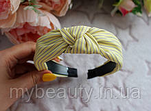 Обруч для волосся Чалма жовтий