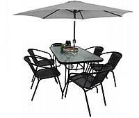 Комплект садовой мебели Kontrast Garden Boston Black-6GR