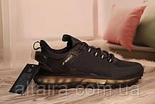 Мужские кроссовки сетка темно-серого цвета на силиконовой подошве BAAS 41-45