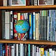 Гиро-глобус Solar Globe «Физическая карта мира» Ø 21,6 см (вращается от любого источника света), фото 4