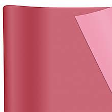 Бумага флористическая Сплошная фуксия / светло-розовая
