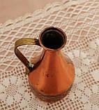 Старий колекційний мідний глечик, мідь, латунь, Німеччина, вінтаж, 350 мл, фото 10