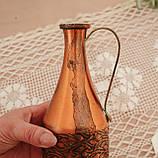Старий колекційний мідний глечик, мідь, латунь, Німеччина, вінтаж, 350 мл, фото 7