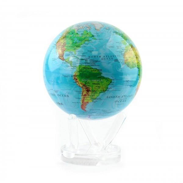 Гиро-глобус Solar Globe «Физическая карта мира» Ø 21,6 см (вращается от любого источника света)