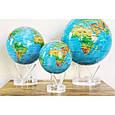 Гиро-глобус Solar Globe «Физическая карта мира» Ø 21,6 см (вращается от любого источника света), фото 2