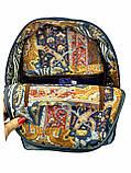 Джинсовий рюкзак МЕЙНКУН рудий, фото 4