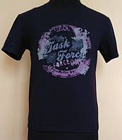 Мужская футболка из стрейч- кулира темно-синяя