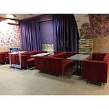 Диван тканевый для офиса и кафе Dream 3-х местный. Диваны для ресторанов, фото 2