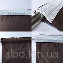 Готовые шторы на тесьме из микровелюра 200x270 cm (2 шт) ALBO Шоколадные (SH-PK-14), фото 7