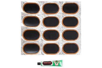 Ремкомплект для камер Xazar - клей + 12 латок