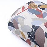 Відріз тканини Duck з осіннім листям теракотового і сірого кольору, розмір 125 * 180 см, фото 3