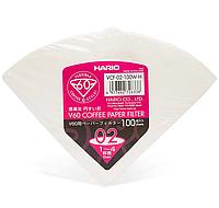 Фильтры HARIO V60 02 бумажные белые для фильтр кофе Харио 100 шт