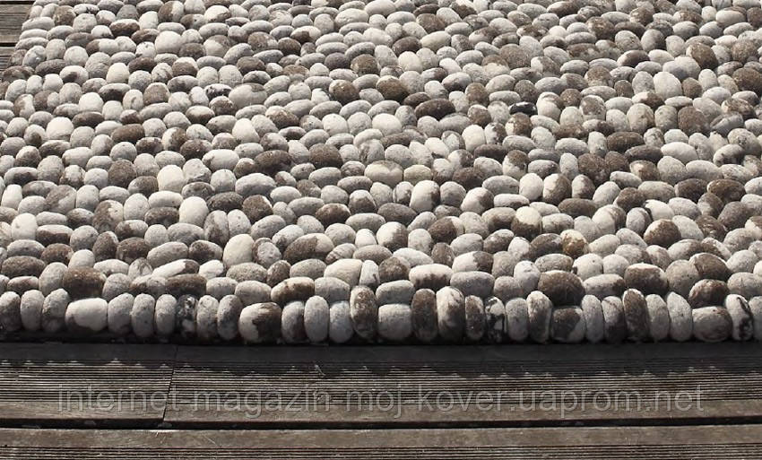 Оригинальные ковры под морские камни из натуральной шерсти