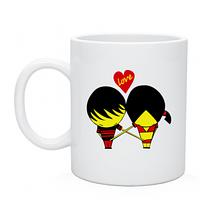 Чашка с приколом Кружка Любовь в штанах, Love is