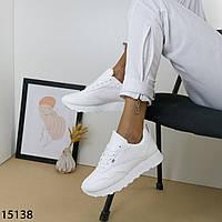 Жіночі кросівки білого кольору еко шкіра, фото 1