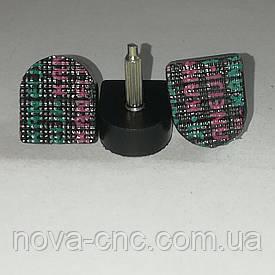 """Набойки на металлическом штыре """"Kaneiji"""" черные, 14mm x 13mm высота 20 мм"""