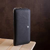 Мужской кошелек ST Leather 18411 (ST45) натуральная кожа Черный, фото 5
