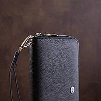 Мужской кошелек ST Leather 18411 (ST45) натуральная кожа Черный, фото 7