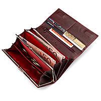 Кошелек женский ST Leather 09425 (S6001A) лакированная кожа Бордовый, фото 4