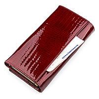 Кошелек женский ST Leather 09425 (S6001A) лакированная кожа Бордовый, фото 5