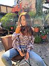 Женская рубашка с рукавами-волнами, фото 2