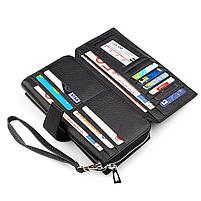 Чоловічий гаманець ST Leather 19953 (ST128) стильний Чорний, фото 4