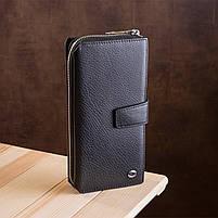 Чоловічий гаманець ST Leather 19953 (ST128) стильний Чорний, фото 6